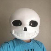 sans máscara Debajo cuento accesorios cosplay hueso cara juego casco máscara apuntalar esqueleto cráneo blanco cosplay vídeo sans Debajo cuento