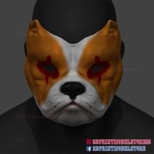 bulldog maske cadılar bayramı maske Kostüm oyunu maske kask stl 3d Yazdır dosya sahne Kostüm oyunu hayvan kedi köpek Ejderha oyun cadılar bayramı kask korku Japonya hayret maske Evcil Hayvan