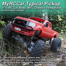 1 10 typical pickup body myrccar mtc chassis rigid axles independent suspension rc cars body monster scale truck rc pickup rc car crawler off-road 1 10 mrcc myrccar mtc typical tpb