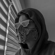 ninja maschera mk ispirato design maschera ninja puntello indossabile fan art mortale kombat