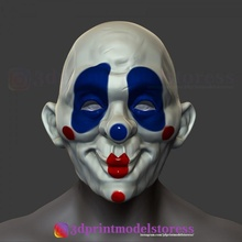 uşaklar karanlık şövalye palyaço maske kostüm cadılar bayramı Kostüm oyunu kask 3d Yazdır dosya sahne Kostüm oyunu batman palyaço kask korku joker film para dark knight uşaklar bank mask