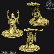 cultistes ensemble 1 3 modèles table sombre fantaisie Dieu moine Mort vivant sang Seigneur donjon dnd autel sacrifice culte cthulhu