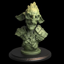 goblin bust tabletop 3d stl bust creature dragons dungeons goblin printing painting pla sla horde  52mm 32mm photon goblins elegoo tytantroll