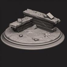 custom rubble base miniatures - figures - version 02 3d print model store base wargamming base-miniatures base-figure custom-base rubblebase customrubblebase wargammingbase base-custom rubble-base rubble-base-custom base-boardgame