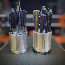 zel's 500 magnum revolver pen pencil holder & garden holder pen pencil spinning tool revolver cylinder spinner