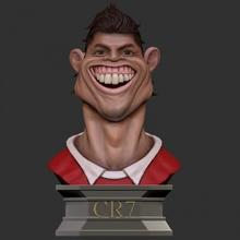 ronaldo padory bust - 3d print model bust funny statue toy cosplay ronaldo cr7 footbal football-player padory