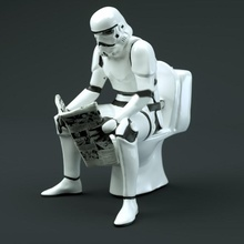 aguafiestas soldado juguetes juegos gracioso Guardia papel estrella guerra Galaxias soldado miniatura Stormtrooper tormenta baño guerras lavabo mierda Noticias aguafiestas