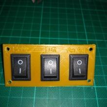 schalterplatte vorn ctc 3d Gehäuse Teller Vorlage ctc drucker geh vorlagern 3d drucker schalter Platte