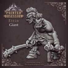 ettin gigante 32mm escala tampo mesa criatura dragões masmorras jogos gigante inferno kickstarter miniaturas monstro 3dprinting impresso tampo mesa fúria d d dnd ettin céu encabeçado obsessão