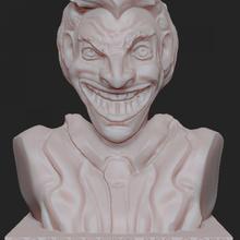 joker büst hayran Sanat büst joker çizgi roman kötü adam kahramanlar Joker