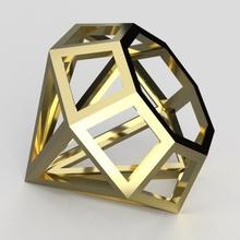 diamond shape big diamond jewel model trophy jewelry shape demo cristal magnification
