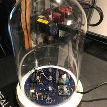 plate glas dome clock plate thermometer dome glas nixie glasdome hren