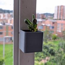 cuadrado magnético maceta flor maceta plantador magnético neodimio plano