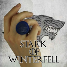 house stark - game thrones ring jewellery crown king ring series television wolf thrones hbo tv stark gameofthrones  kings north direwolf kingofthenorth hourse