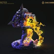 moine table stl miniatures moine wargaming marteau guerre donjons Dragons héros dnd éclaireur jeux table jeux table