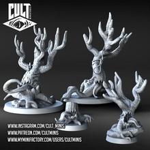 bosque conjunto despierto arboles mesa criatura dragones mazmorras fantasía árbol miniatura animado mesa d d dnd cuento hadas pionero despierto bestiario