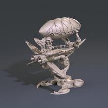 xwing dirigível Steampunk temático miniaturas rpg terreno tampo mesa d d dnd wor worldsoverrun Haldane