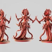 spider woman tabletop creature dark elf fantasy girl monster series warhammer woman miniature spider league  kali mmorpg invertebrate confrontation akkislash ragno