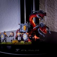 hidra 2 cabeças 28mm jogo guerra tampo mesa Dragão estatueta monstro martelo guerra miniatura imenso jogo guerra hidra 28mm Frostgrave Eskice Mordheim hidra