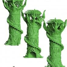 zar kule Odun elf masaüstü Aksesuarlar zar ejderhalar Zindanlar elf fantezi Geek modüler inek rpg kule Odun minyatür rol d20 senaryo atmak manzara playng