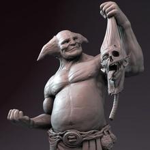 colosso estátua tampo mesa criatura monstro mítico orc estátua provocador chifres ogro mito colosso Colin chifrudo