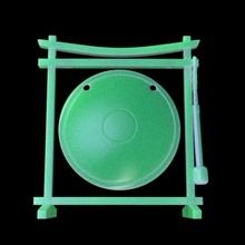 gong çerçeve 28mm ölçek ön destekli Çince zanaat fantezi çerçeve Japonca masaüstü klan oryantal 28mm Asya dnd oni 32mm gong esnaf lonca destekli ön sığınak