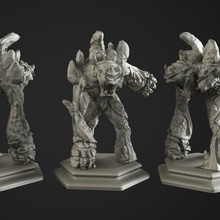 stone golem tabletop dragons fantasy golem hexagon monster orc rpg stone rock guardian boardgame base fort dungeon pathfinder druid mmorpg gloomhaven proxy
