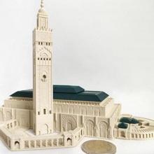 Hassan ii Moschee Casablanca Marokko Afrika Architektur Tempel Monument Arabisch Moschee Palast Wahrzeichen Marokko großartig Islam islamisch Miniwelt Casablanca miniworld3d Marokko Mücke Marokko maurisch Hassanii