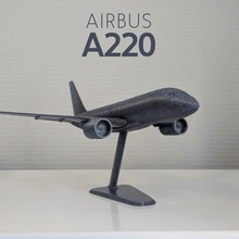 airbus a220-100 - modern jet airplane - 1 144 turbine aircraft airplane jet boeing airbus airliner bombardier a320 a220 cseries