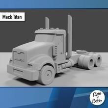 mack titano daycab 1 64 scala ricambio parti scala trasporto camion furgone 64 volvo jeep dolly trailer 1 64 scania Lowboy pungiglione Bull bar petroliera Peterbilt semi