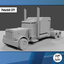 Peterbilt 379 1 64 scala ricambio parti scala trasporto camion furgone 64 volvo jeep dolly trailer 1 64 scania Lowboy pungiglione Bull bar petroliera Peterbilt semi 1 64