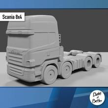 scania 8x4 1 64 scala ricambio parti scala trasporto camion furgone 64 volvo jeep dolly trailer 1 64 scania Lowboy pungiglione Bull bar petroliera Peterbilt semi 1 64