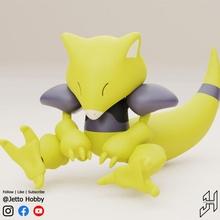 abra 1 10 ölçek mafsallı pokemon hobi takım model pokemon ölçek ölçekli