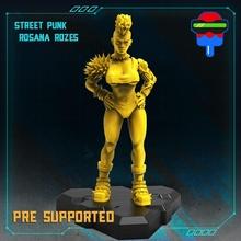 Straße Punk Rosana Rosen Tischplatte weiblich Mädchen sexy Cyberpunk Kybernetik npc Gang Cyberpunkred Cyberware steet