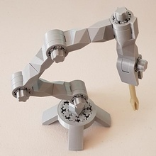modular toy robot arm lamp modular openscad robot stand toy gear arm construction planetary epicyclic