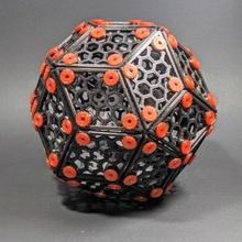 dorado rombo rómbico triacontaedro Tienda Arte bricolaje diy divertido matemáticas rompecabezas juguete montaje formas dodecaedro fabricante geometría polígono decoración poliedro icosaedro tornillos rombo