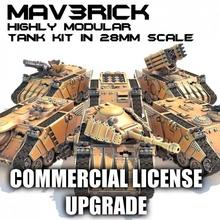 mav3rick ticari lisans Yükselt 3d Dosyalar mağaza savaş oyun takım model modüler ölçek sci fi tank araç savaş oyunları Warhammer minyatür mafsallı masaüstü savaş oyunu 28mm