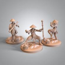 gambatar moine pre supported table kickstarter miniature minis asiatique dnd présupporté
