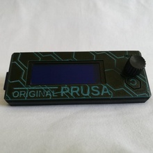 hexagon patterned prusa lcd cover hexagon prusa lcd prusai3mk3 prusai3mk3s lcdcover prusalcd lcdcover prusalcd