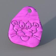 pink panther keychain cartoon keychain pink cartoons panther idealab pink-panther