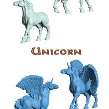 unicorno gratuito tavolo creatura draghi fantasia divertente Giochi mitico giocattoli unicorno cavallo sla dlp gioco tavolo blu tavolo corno prigione dnd alato lance incrociate