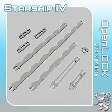 açık kilit klips varyantlar sci fi star arazi savaş minyatür bilimkurgu masaüstü yıldız gemisi iniş 28mm hangar açık kilit gezgin Tehlike yıldız bulucu gezgin