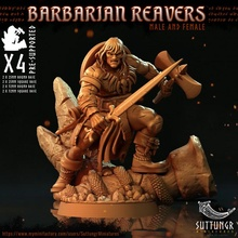barbare faucheuses 32mm pre supported table barbare Egypte égyptien combattant Humain rpg carré viking guerrier conan dnd 32mm bases moissonneur Howard sauvage hyborée stygien semifumata