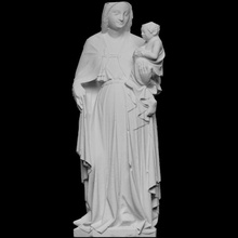 permanent vierge enfant bébé Christian Jésus sculpture statue bois enfant église 3dprint Marie 3dscan vierge polychromie
