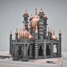 Ubudiah Moschee Malaysia Architektur Gebäude Tempel Monument Arabisch Asien Moschee Schloss Wahrzeichen Architekt Islam islamisch Miniwelt miniworld3d Mücke Malaysia Kuala Lumpur kuala Silber Penang