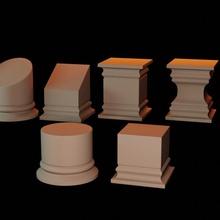 exibição plintos coluna exibição miniaturas pilar bases pilares plintos
