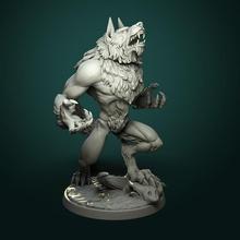furioso hombre lobo 2 variantes pre supported mesa fantasía juego rpg miniatura mesa hombre lobo dnd pionero ttrpg dndminiatura