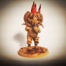 corgan demon pumpkin mesa demonio hacha duende Víspera Santos calabaza loco hada cuento hadas hacha cuchilla carnicero asesino gorra roja