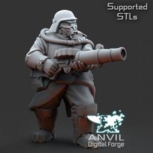 armoured trencher ogre lewis gun tabletop armor armour gasmask gun wargames miniature industry anvil ogre armoured lewis industries trencher