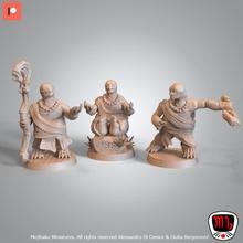 Jin juin Jiang moine tortues pre supported table moine rpg tortue guerrier miniature minis asiatique dnd openlock présupporté